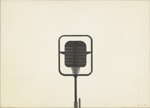 """""""Microphone"""" - Alighiero e Boetti (Italian, 1940-1994)"""